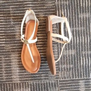 Ivory BCBG Gladiator Sandal